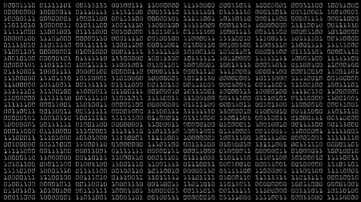 Binary numbers alpha overlay
